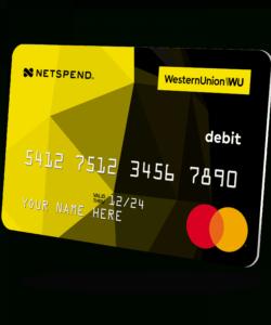 free western union® netspend® prepaid mastercard®  western union us western union prepaid direct deposit form