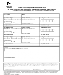 payroll direct deposit authorization form  manualzz direct deposit payroll authorization form pdf