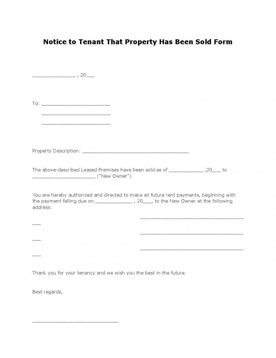 printable free notice to tenant that property has been sold form  pdf transfer of security deposit to new owner form excel