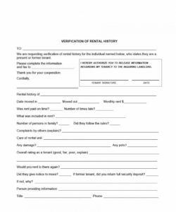 29 rental verification forms for landlord or tenant verification of deposit form template excel