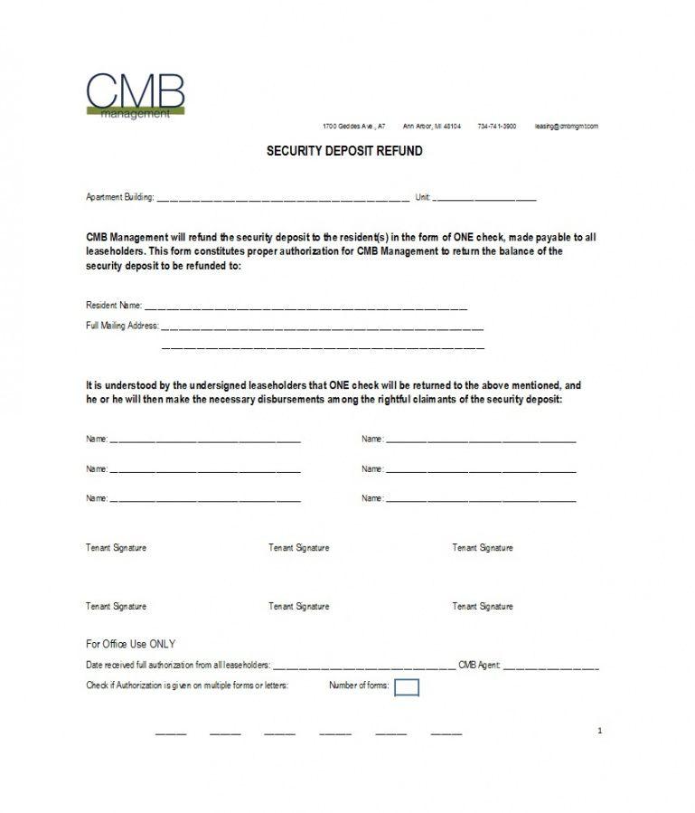 50 effective security deposit return letters [ms word] ᐅ security deposit refund letter template excel