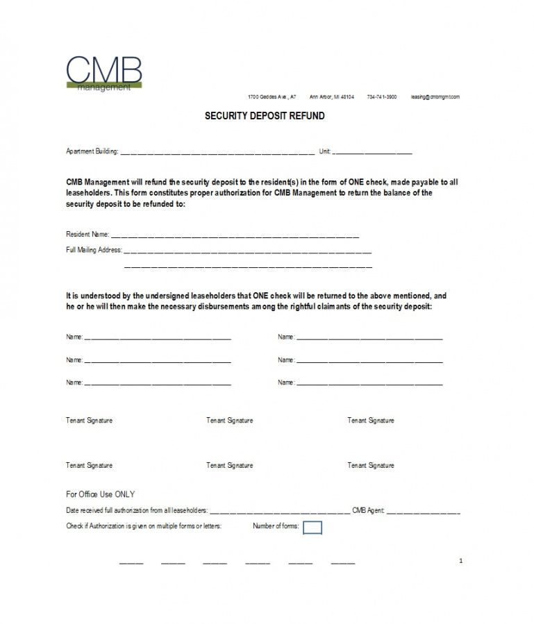 50 effective security deposit return letters [ms word] ᐅ security deposit return letter template pdf