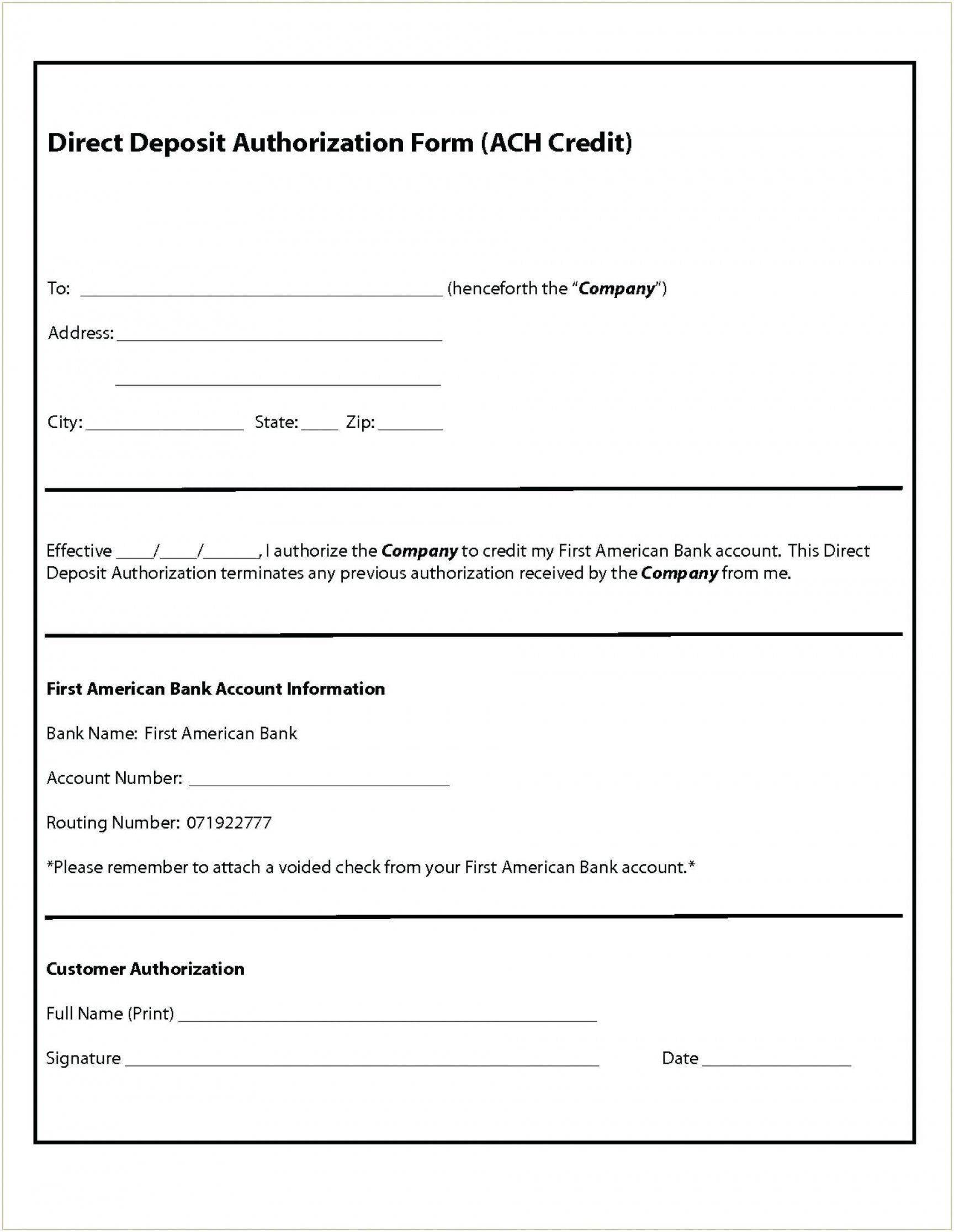 editable 015 ach direct deposit authorization form template breatht generic direct deposit authorization form pdf