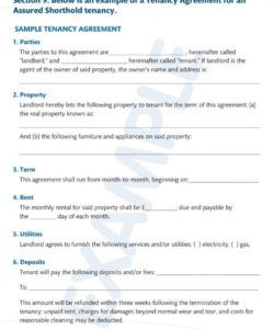 editable 9 simple tenancy agreement templates  pdf  free & premium no deposit tenancy agreement template doc