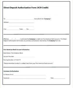 free 015 ach direct deposit authorization form template breatht direct deposit cancellation form template doc
