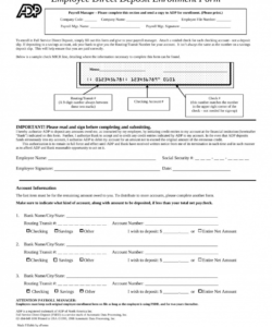 free 016 direct deposit form template word ideas fascinating employee direct deposit enrollment form template pdf