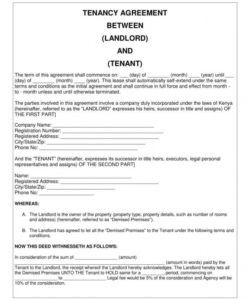 free 9 simple tenancy agreement templates  pdf  free & premium no deposit tenancy agreement template word