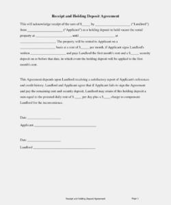holding deposit agreement form  carnavaljmsmusic  the holding deposit form template excel