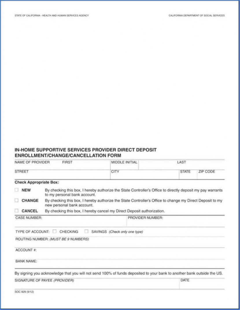 printable direct deposit form template word 1353 direct deposit cancellation form template excel