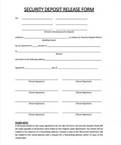 printable free 6 rental deposit forms in samples examples formats deposit release form template pdf