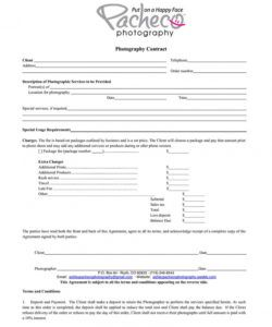 printable what your photography contract must have plus good photography deposit contract template