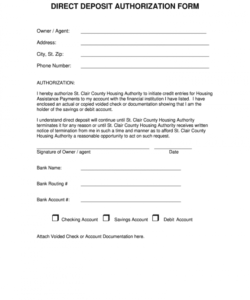005 template ideas large direct deposit authorization ach deposit authorization form template doc