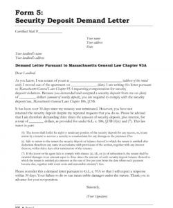 015 security deposit demand letter receipt template dreaded demand letter for return of security deposit word