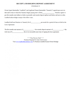 040 receipt and holding deposit agreement security template apartment rental deposit agreement