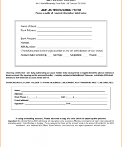 ach form template  kaldebwongco ach deposit authorization form template excel