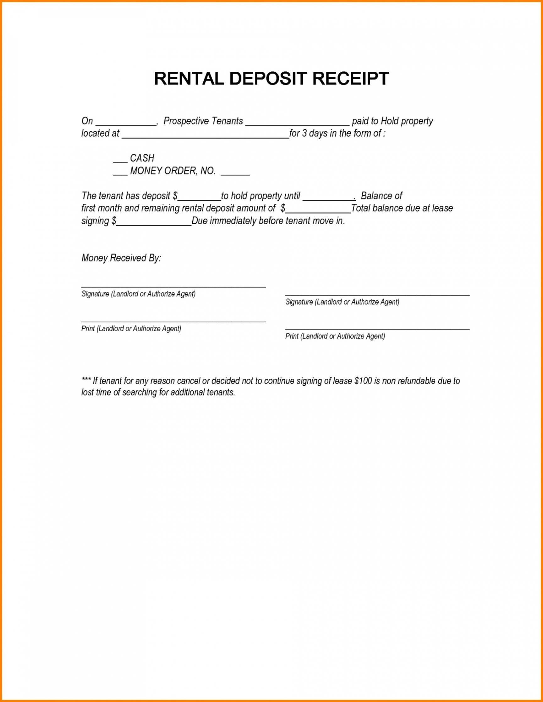 editable 004 security deposit receipt letter template ideas agreement security deposit agreement letter sample