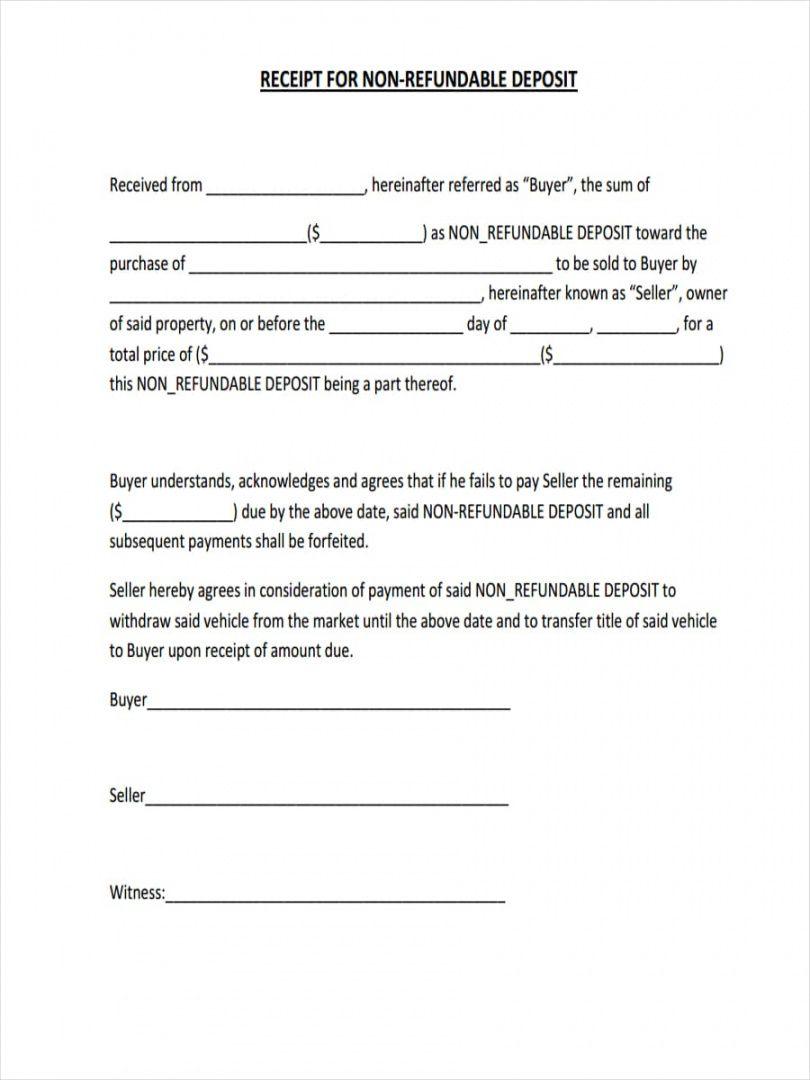 editable 010 receipt for non refundable deposit security template doc non refundable deposit form template pdf
