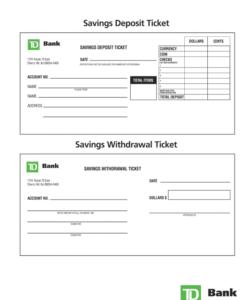 editable td deposit slip  fill online printable fillable blank generic deposit slip template excel