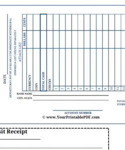 printable large print bank deposit slip  there is nothing bank deposit slips template pdf