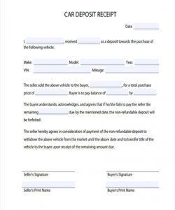 sample 017 template ideas security deposit receipt doc unbelievable non refundable deposit form template pdf