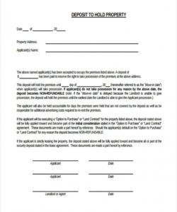 sample free 6 rental deposit forms in pdf security deposit agreement letter pdf