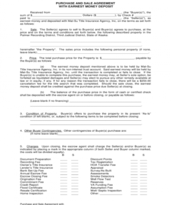 sample good faith deposit receipt  fill online printable good faith deposit agreement form sample