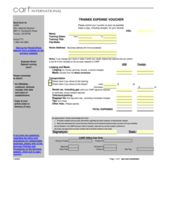 editable travel voucher template  fill online printable fillable college tour itinerary template excel
