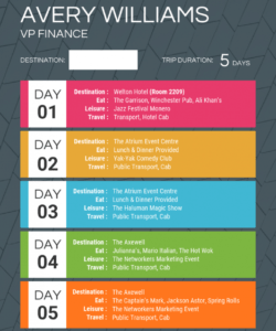 free colorful itinerary template leisure travel itinerary template excel