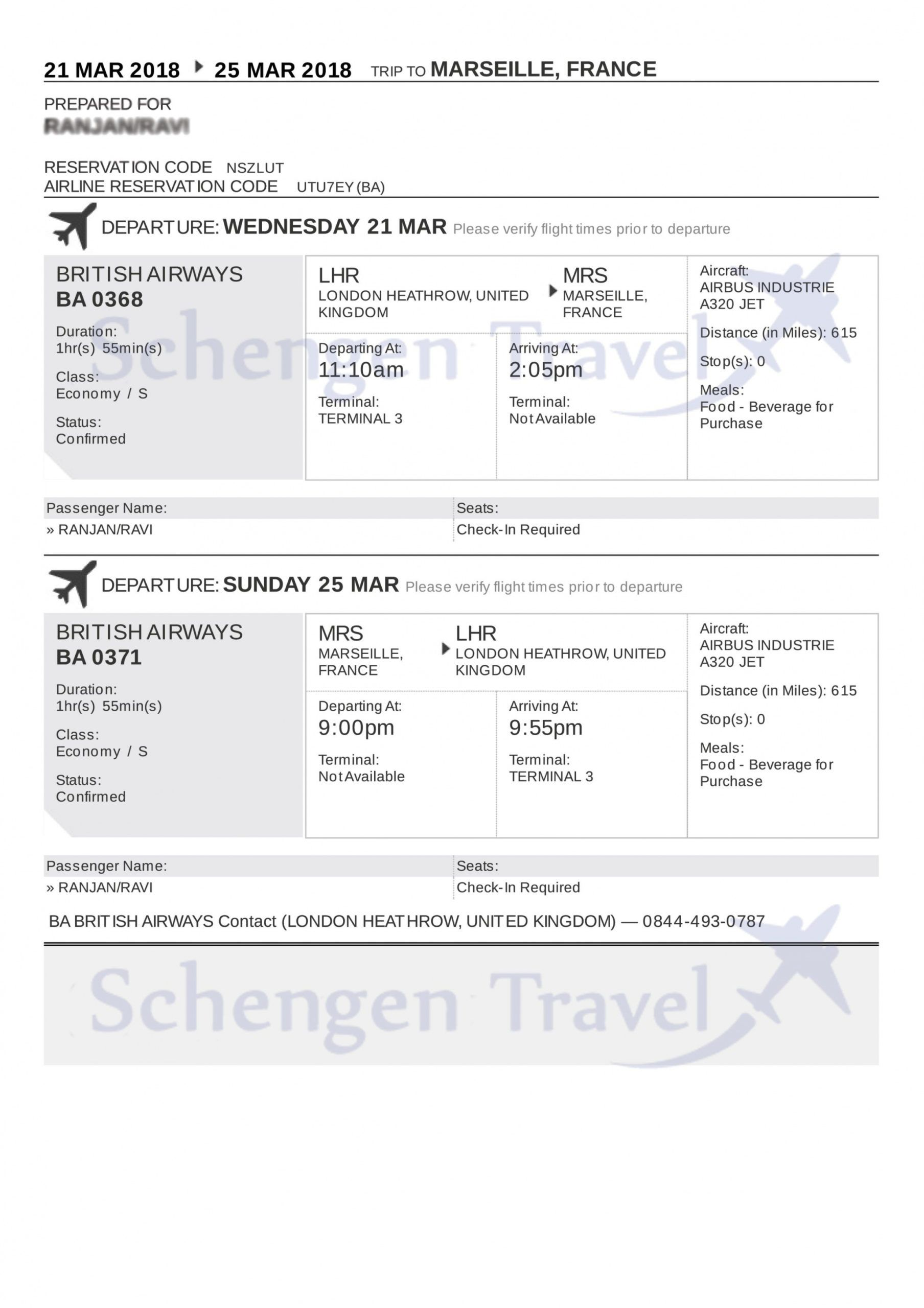 free sample flight reservation or flight itinerary for visa travel itinerary template for visa application excel