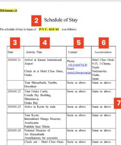 printable 17 create travel itinerary template us visa formating with travel itinerary template for visa application example