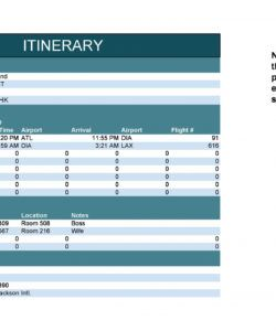 sample 30 itinerary templates travel vacation trip flight leisure travel itinerary template