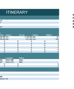 30 itinerary templates travel vacation trip flight travel agent itinerary template pdf