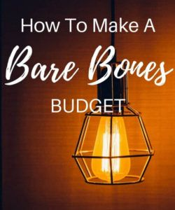 editable bare bones budget  inspired budget bare bones budget template