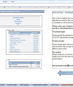 editable beauty salon budget template  cfotemplates salon budget template pdf