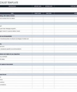 editable free itinerary templates  smartsheet programme itinerary template sample