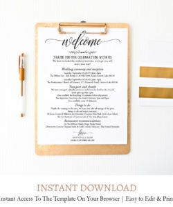 editable wedding weekend itinerary template c6 bridal shower itinerary template doc