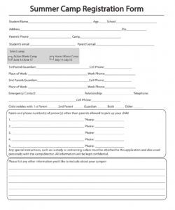 free 11 printable summer camp registration forms in pdf youth camp budget template doc