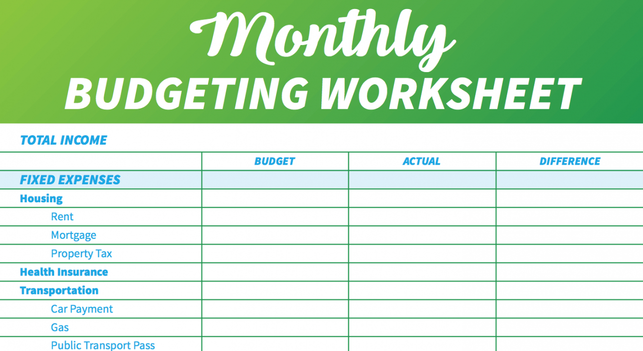 free 14 free budget templates and spreadsheets  gobankingrates monthly spending budget template
