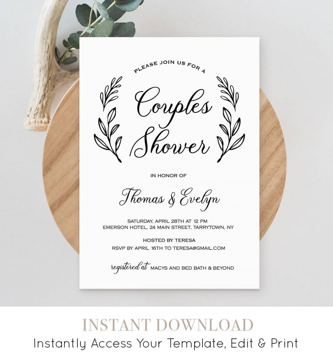 free couples shower invitation template printable wedding bridal shower itinerary template