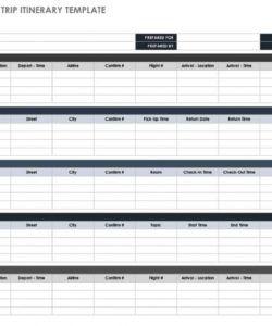 free free itinerary templates  smartsheet programme itinerary template