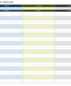 free free itinerary templates  smartsheet travel planner itinerary template sample