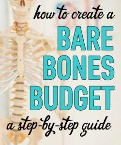 free how to create a bare bones budget  free worksheet bare bones budget template sample