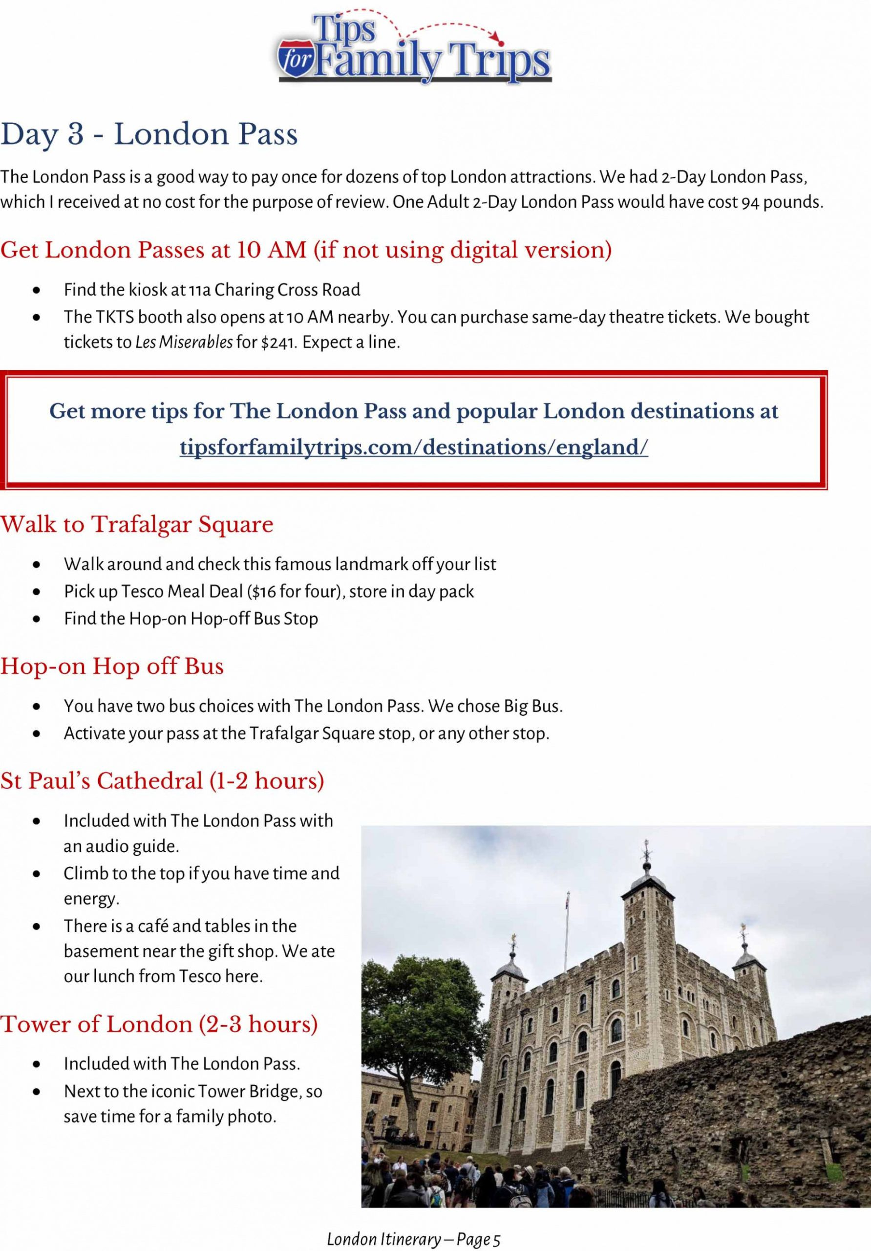 free one week in london  my family's itinerary london travel itinerary template word
