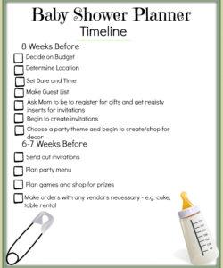 printable 36 baby shower agenda baby shower itinerary template doc