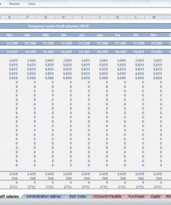 printable beauty salon budget template  cfotemplates salon budget template pdf