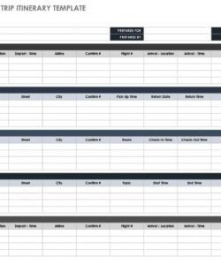 printable free itinerary templates  smartsheet travel agent itinerary template excel