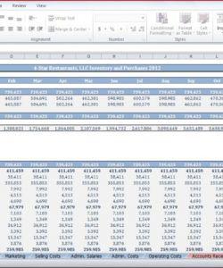 printable restaurant budget template  cfotemplates restaurant opening budget template excel