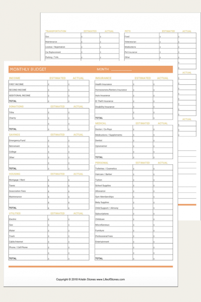 printable the most effective free monthly budget templates that will zero based monthly budget template pdf