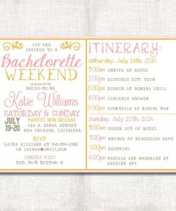 printable wedding weekend itinerary template free invite ~ addictionary bridal shower itinerary template doc