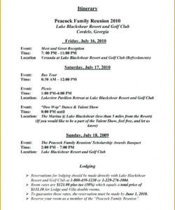 sample family reunion event schedule template meeting minutes family reunion itinerary template word